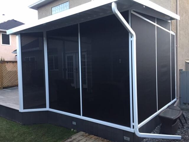 how to enclose a balcony Black Mountain Sunrooms Windows Glass